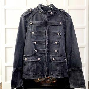 TRIPP NYC Black Parade Style Denim Military Jacket